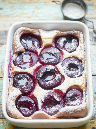 Clafoutis di susine al Gingerbread Mix